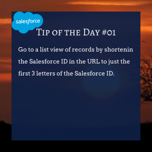 Copy of Salesforce TIP OF THE DAY #01